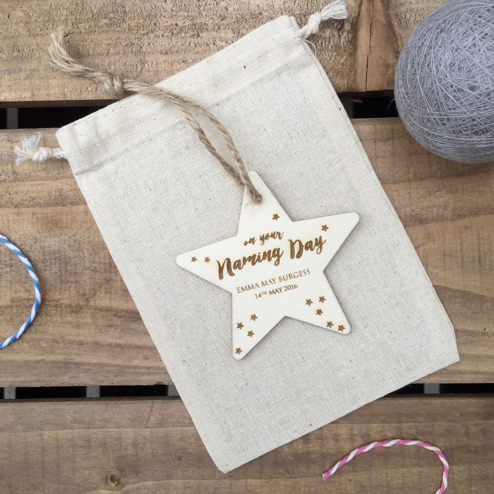 Home / GIFTS / New Baby / On your Naming Day Personalised Star Ornament