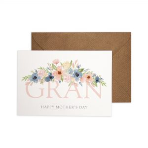 Gran Happy Mother's Day card with pretty watercolour florals.