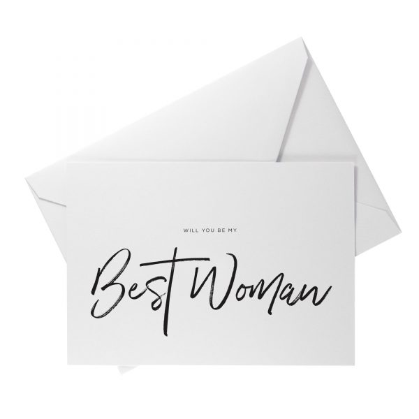 will you be my best woman card
