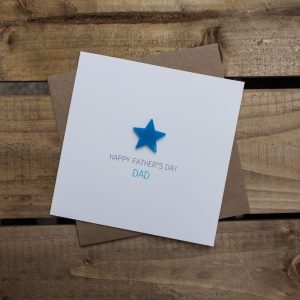 Happy Fathers Day Dad Magnetised Keepsake Card