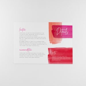 LOLA information card, bold colours with foil foil