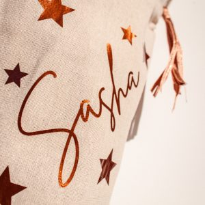 Personalised Copper Tassel Christmas Stocking