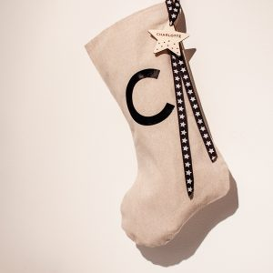 Personalised Star Initial Christmas Stocking