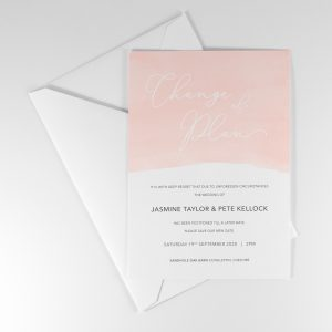 Wedding Postponement Announcement Cards
