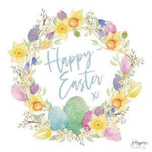 Happy Easter Wreath Free Digital Download