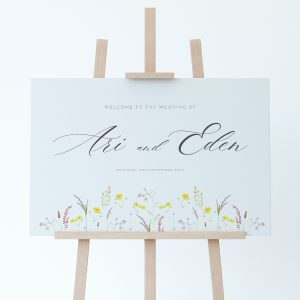 FLORA Wedding Welcome Sign