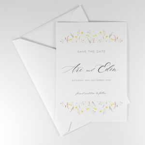 FLORA Wedding Save the Date Rear