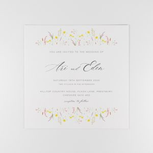 FLORA Wedding Invitation Card Front