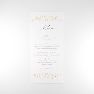 FLORA Wedding Menu Card